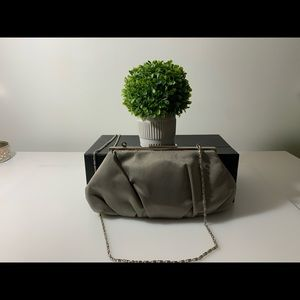 Lulu Townsend Bags - ✨2/$20 Satin gray Lulu Townsend clutch✨